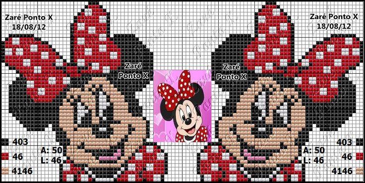 Arte em Família!!!: Ponto Cruz Disney: Minnie !!!