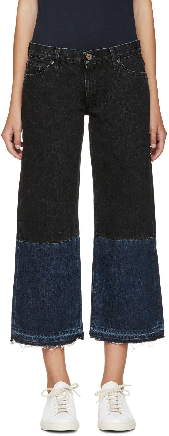 Simon Miller Back & Blue Cropped Hiko Jeans