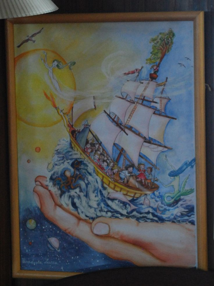 Selfic painting from Damanhur Spiritual eco-community, based near Torino, Italy. It used to be in the mess of the Rainbow Warrior II and now it is in the lounge of the Rainbow Warrior III. You will find out why in my book!