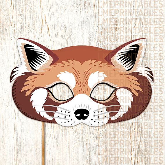 Red Panda Mask PDF File Ready to Print Cut and Enjoy! This item Include: • PDF files ready for printing and instructions for making the mask. • JPG files ready for printing and instructions for making the mask. Features: • Large eye holes for wearing comfort. • Paper Format A4: 21 x