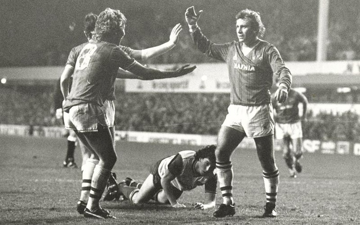 #EFC v Stoke flashback, 1984: Top of the table Everton entertained bottom club Stoke and strolled to their tenth consecutive win in all competitions. Adrian Heath silenced taunts from the away end by bagging a first-half brace against his old club and set up Peter Reid for the third after the interval before Trevor Steven added a fourth. Watch the goals here www.youtube.com/watch?v=2C6Xkk_Hnq0#t=11m15s & follow today's game here http://www.liverpoolecho.co.uk/everton-fc/match-centre/