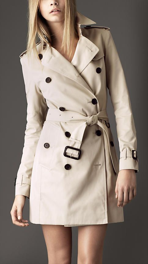 Trench-coat mi-long en gabardine de coton | Burberry