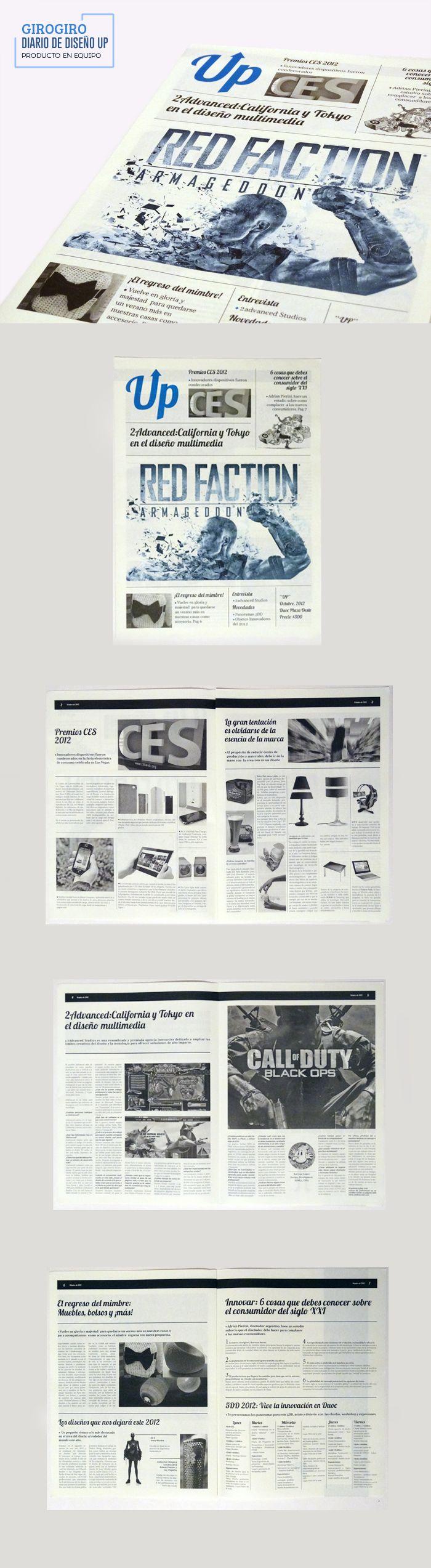 Trabajo editorial, Diario de Diseño UP
