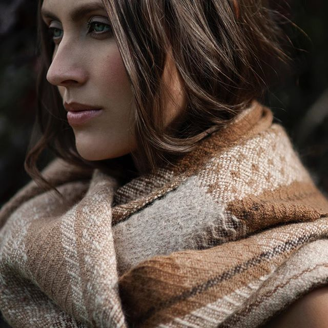 The darkness of winter is creeping ever closer, but it also provides the perfect excuse to wrap up warm in something utterly divine. This caramel handwoven alpaca scarf was inspired by an aerial view of Scotland's patchwork fields and brings glorious warmth to an icy winters day.