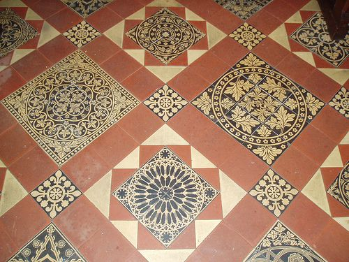 Minton Tiles, Our Lady & St Alphonsus, Hanley Swan, England