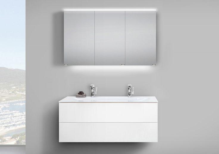 Badmöbel Set grifflos 120 cm Glas-Doppelwaschtisch mit Unterschrank und Led Spiegelschrank Jetzt bestellen unter: https://moebel.ladendirekt.de/bad/badmoebel/badmoebel-sets/?uid=aaf3b538-f244-5231-aff0-2ba76406317c&utm_source=pinterest&utm_medium=pin&utm_campaign=boards #bad #badmoebel #badmoebelsets #waschtischsets