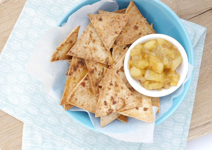 KIDS: Zoete nachos met appel en kaneel
