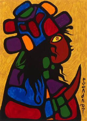 Norval Morrisseau - Child With Headdress