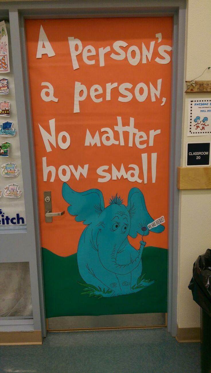 Dr Seuss week door decoration