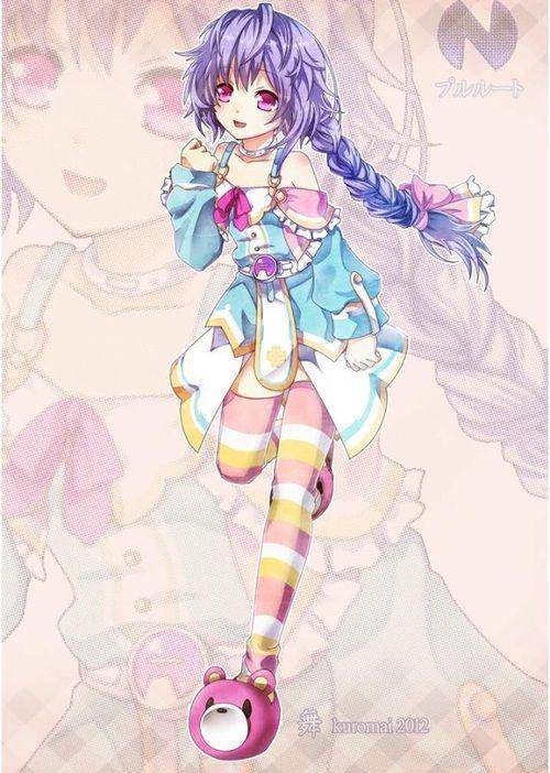 grafika anime, hyperdimension neptunia, and cute