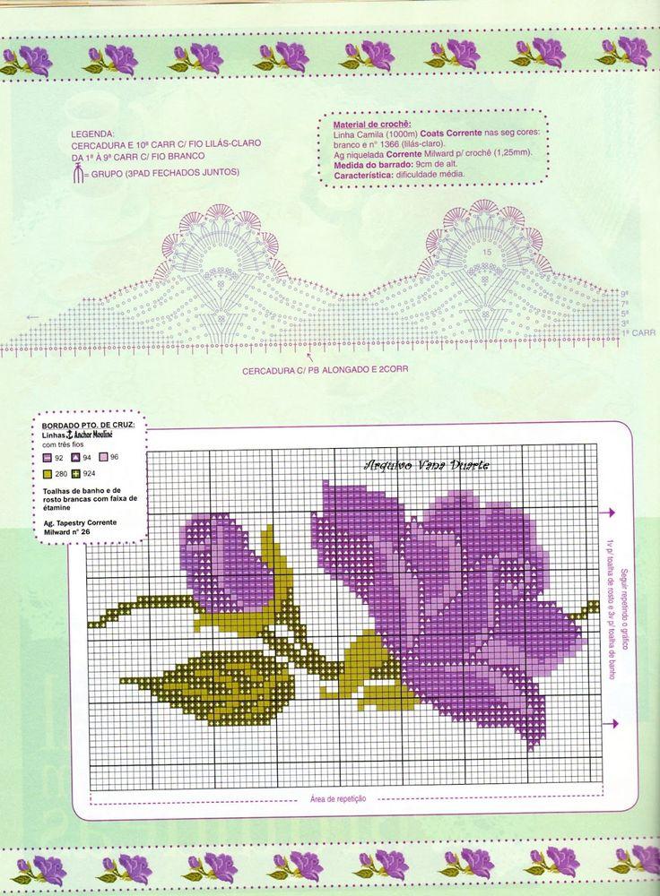 Sandrinha Ponto Cruz: Barrados de flores