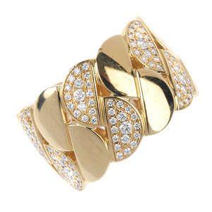 LOT:334 | CARTIER - an 18ct gold diamond dress ring.
