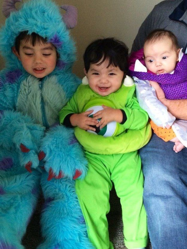 monsters inc group halloween costumeshalloween - Monsters Inc Baby Halloween Costumes