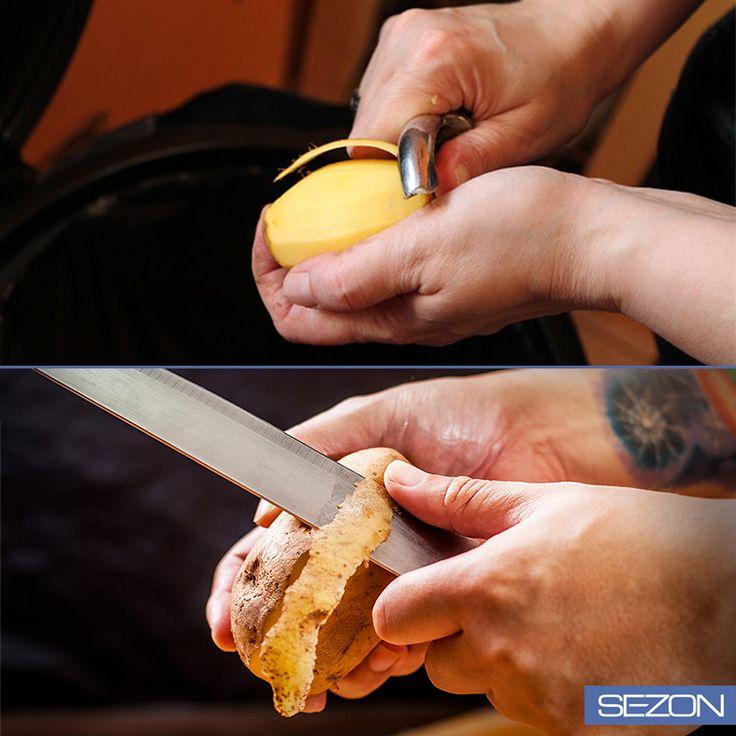 Klasik bıçak mı yoksa yeni nesil soyucu mu? Patatesleri soyarken siz hangisini tercih ediyorsunuz?