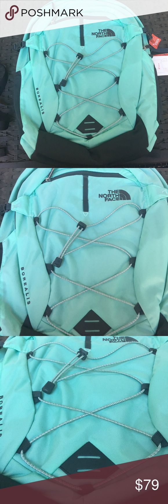 The North Face Women's Borealis Surf Green Brand new North Face Women's Borealis Backpack Surf Green/Asphalt Gray.More than just a ho-hum unisex pack, The North Face Women's Borealis Backpack comes in a women-specific design, so you can tackle the day in total comfort. If you happen to take it out on a hike, you'll appreciate the FlexVent suspension system, removable hip belt, and sternum strap while you carry a heavy hiking load. The North Face Bags Backpacks