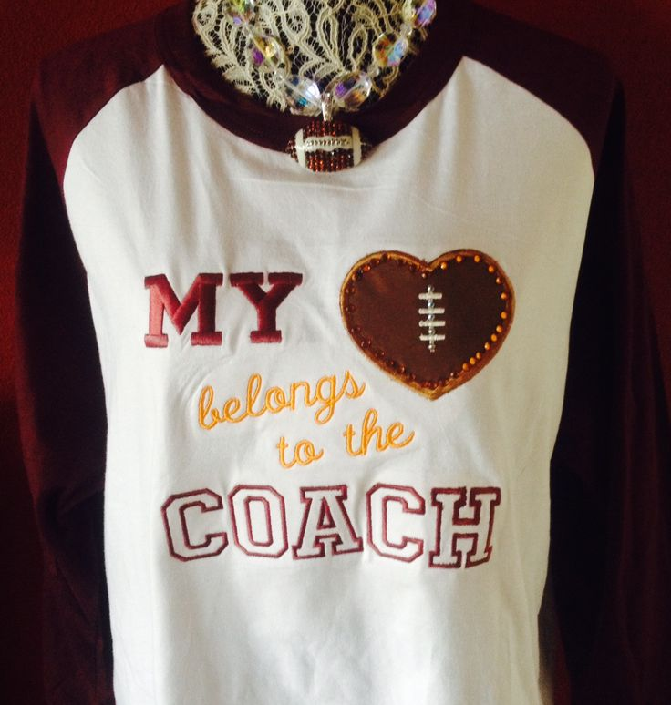 Baseball Alley Designs - Football Coach Wife Girlfriend or Daughter's Tee…