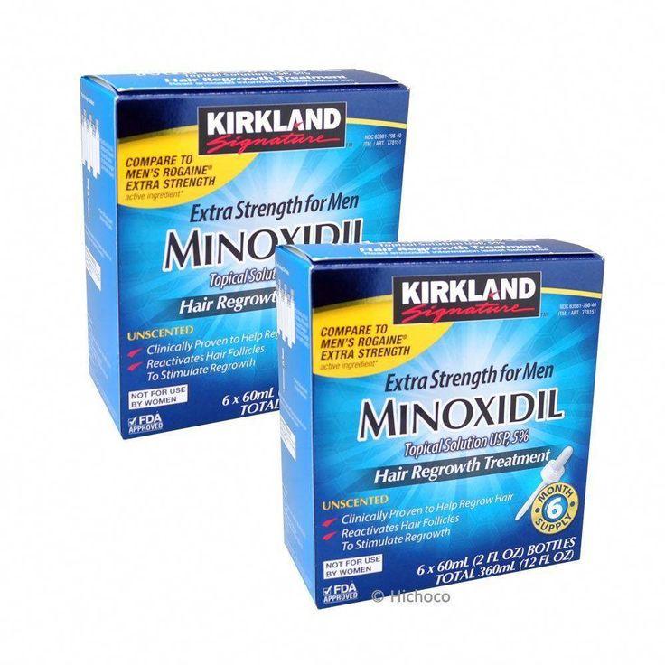 Kirkland minoxidil 5 extra strength men hair regrowth 12