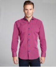 Pink Button Down Shirt For Men - Greek T Shirts