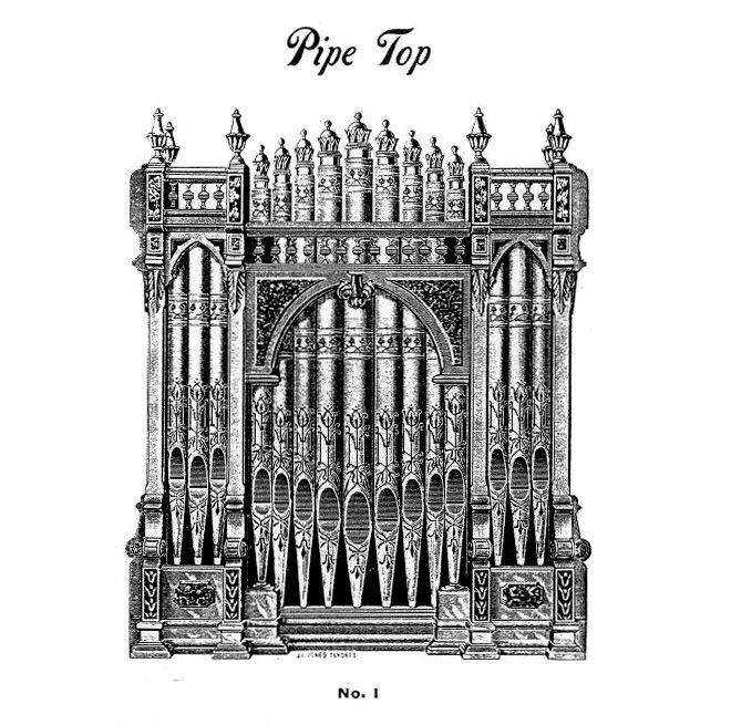 Dominion 1891 - Pipe Top No. 1. See alternative Pipe Top on last page