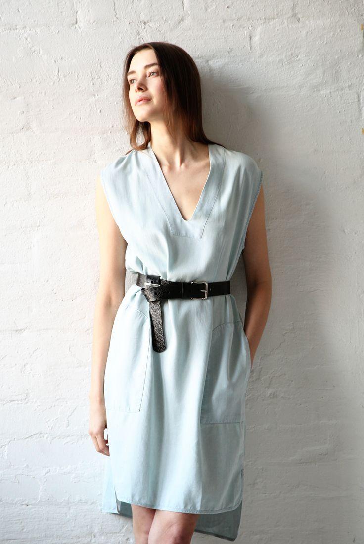 Acne Studios soft denim dress.