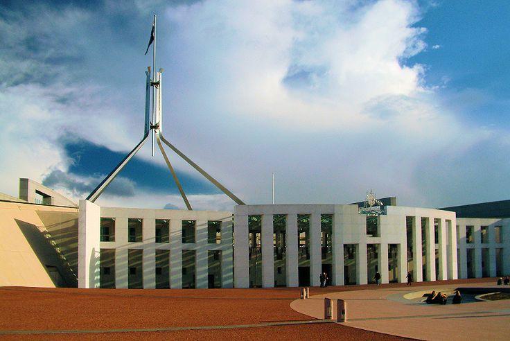 Parliament House, Canberra Australia (1981-88) | Mitchell/Giurgola Architects and Thorp Architects