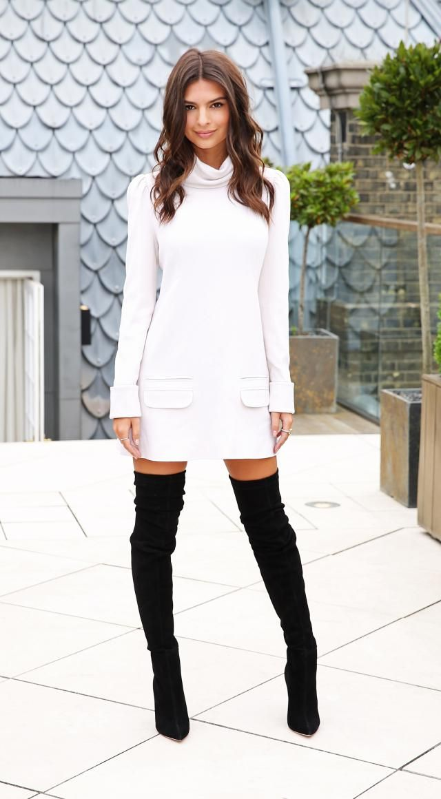 How to Wear It: The Thigh-High Boot: Emily Ratajkowski