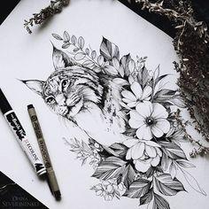 #lynx #sketch #artmagazine #artwork #artgalery #worldofartists #art_spotlight #sketch_daily #flowers #drawing #artgalaxies #whichinkilike #art_empire #art_we_inspire #blacktattooart #blackworkers #blxckink #illustration #art #art_assistance