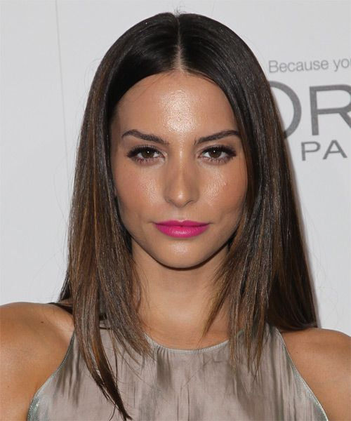 Genesis Rodriguez Long Straight Hairstyle.