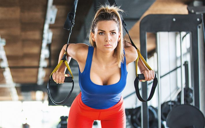 Download wallpapers workout, bodybuilding, training, exercise for women, weight loss, gym, fitness