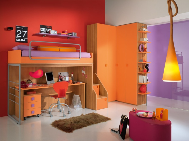 The color of the line is the true protagonist of bedrooms Spar. http://spar.it/ita/Catalogo/Junior/ONE/Default-cc-183.aspx