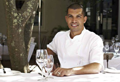 Hire / Book Chef Reuben Riffel Celebrity Chef. While the women were toiling away, with a young Reuben stealing his first secrets, many of which can be found in his cooking today. A young chef in the...  For bookings and more info visit: http://eventsource.co.za/ads/book-hire-chef-reuben-riffel-celebrity-chef/