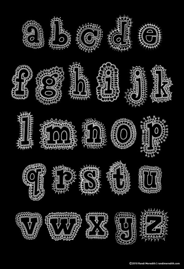 Knit Alphabet by Randi Meredith, via Behance