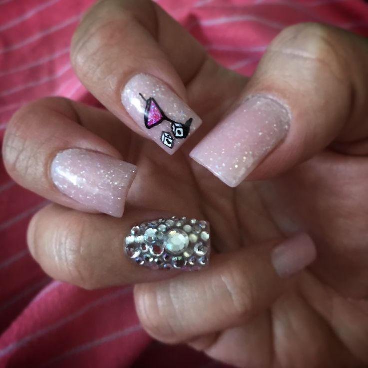Bling Vegas Nail Art By Renee! Bling nails, vegas nails, Las Vegas nail design!