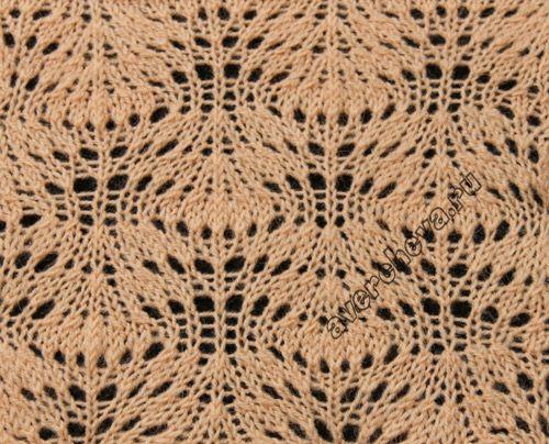 Knit stitch pattern - chart Lace Plumes