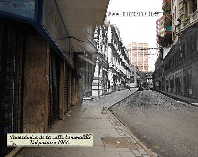 Panorámica de la calle Esmeralda Valparaíso