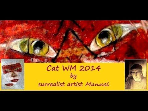 Cat WM 2014 mixed media https://www.manuelmykonos.com