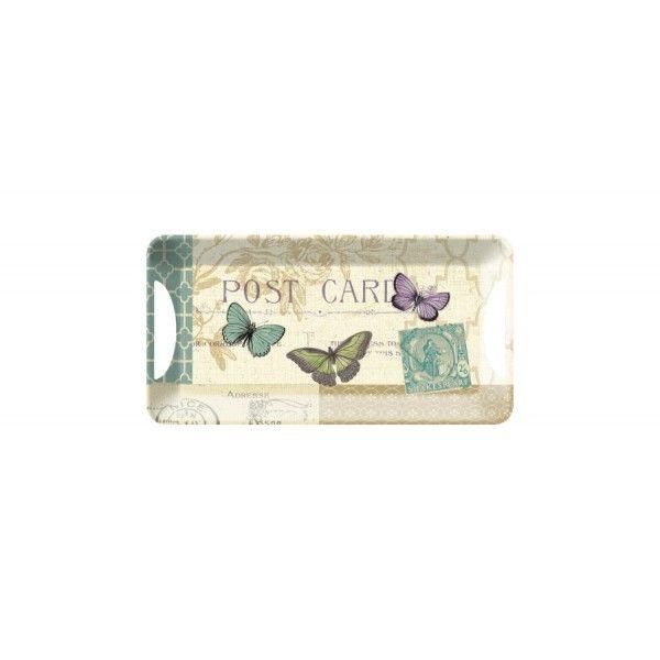 Postcard Butterfly pillangó mintás szendvicstálca