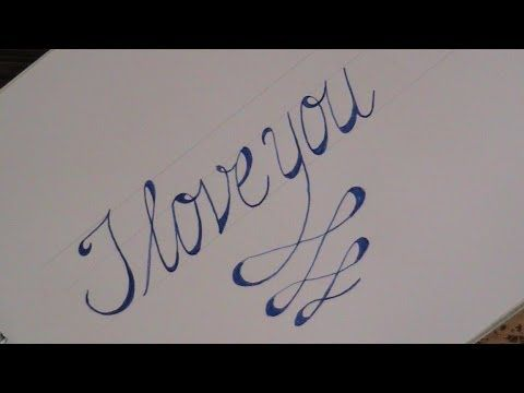 Cursive fancy letters how to write cursive fancy letters I love you calligraphy