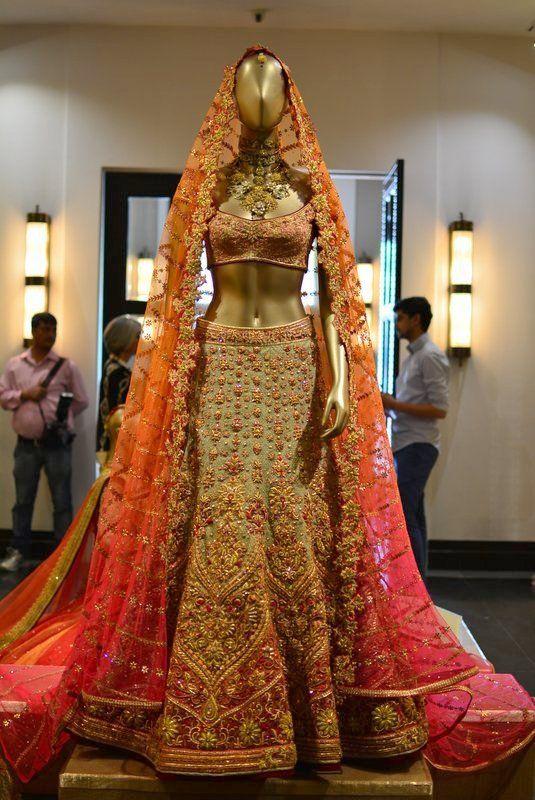 Tarun Tahiliani Heavy Bridal Lehenga Choli - Gujarati Dresses- 2800$  http://www.gujaratidresses.com/tarun-tahiliani-heavy-bridal-lehenga-choli/