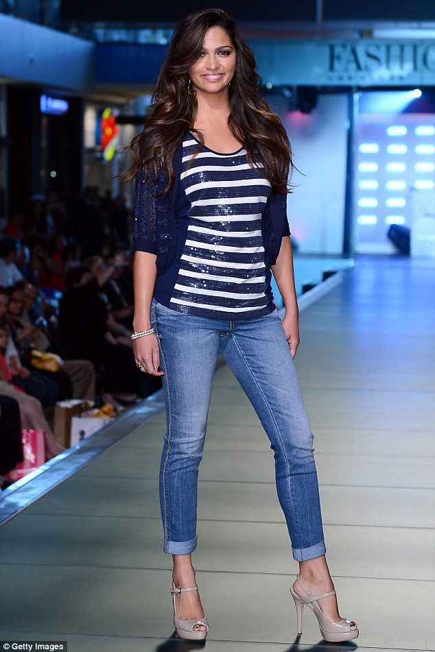 Hot on the runway: Camila Alves showed off her favourite picks from Macys INC line as she she took to the runway in Las Vegas on Saturday