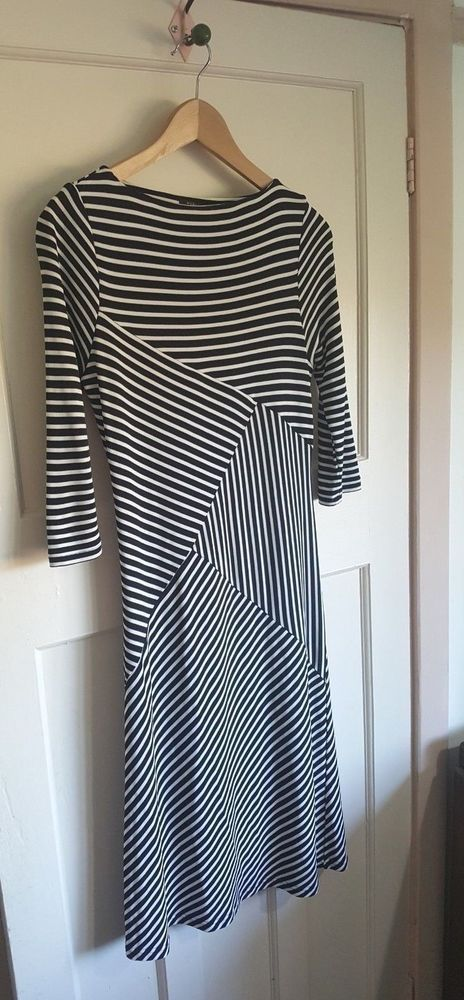 Betty Jackson For Autograph M S Las Black White Dress Size 14 Fashion Clothing