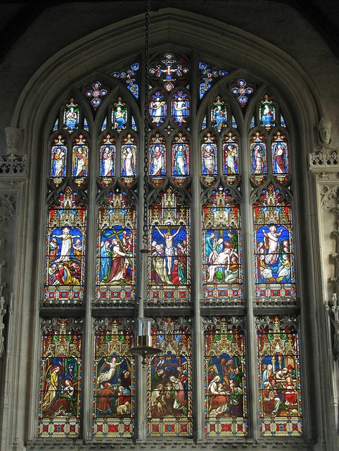 Adderbury church, Oxfordshire, England. Stained Glass - East window by Thorskegga, via Flickr