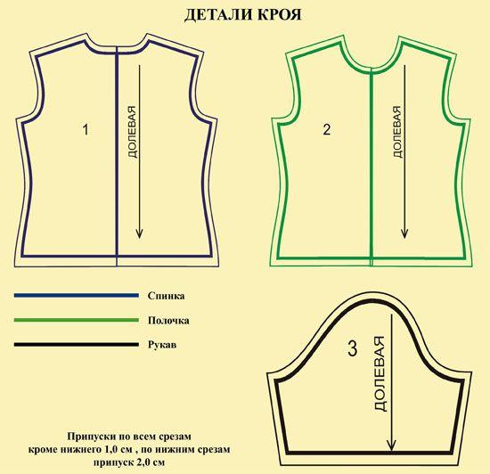 выкройка-женской-футболки