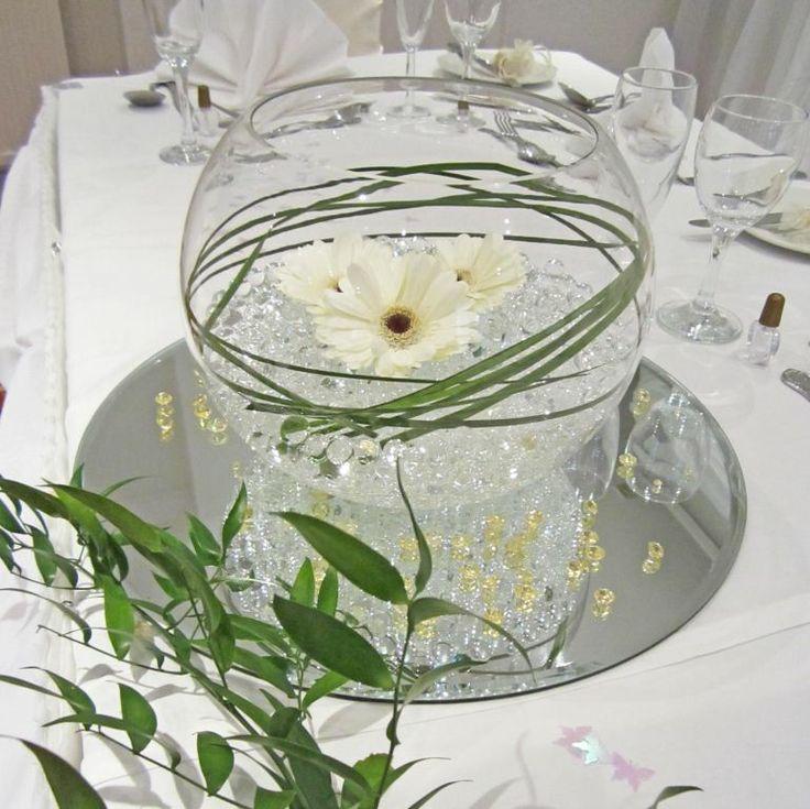 Elegant Fish Bowl Wedding Centrepiece