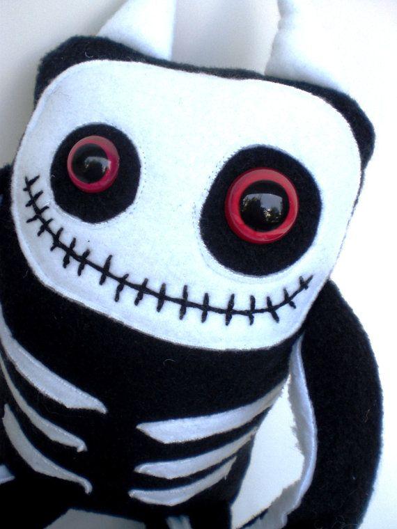Cute Skeleton Monster BONEZ plush toy doll by PinkSprinklesPlush