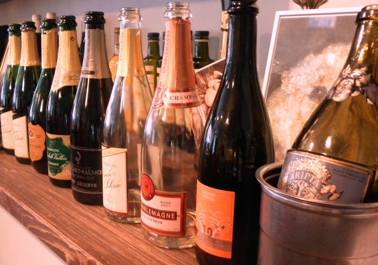 Nine different kinds of bubbles from France, Spain and Italy @Restaurant CLOU