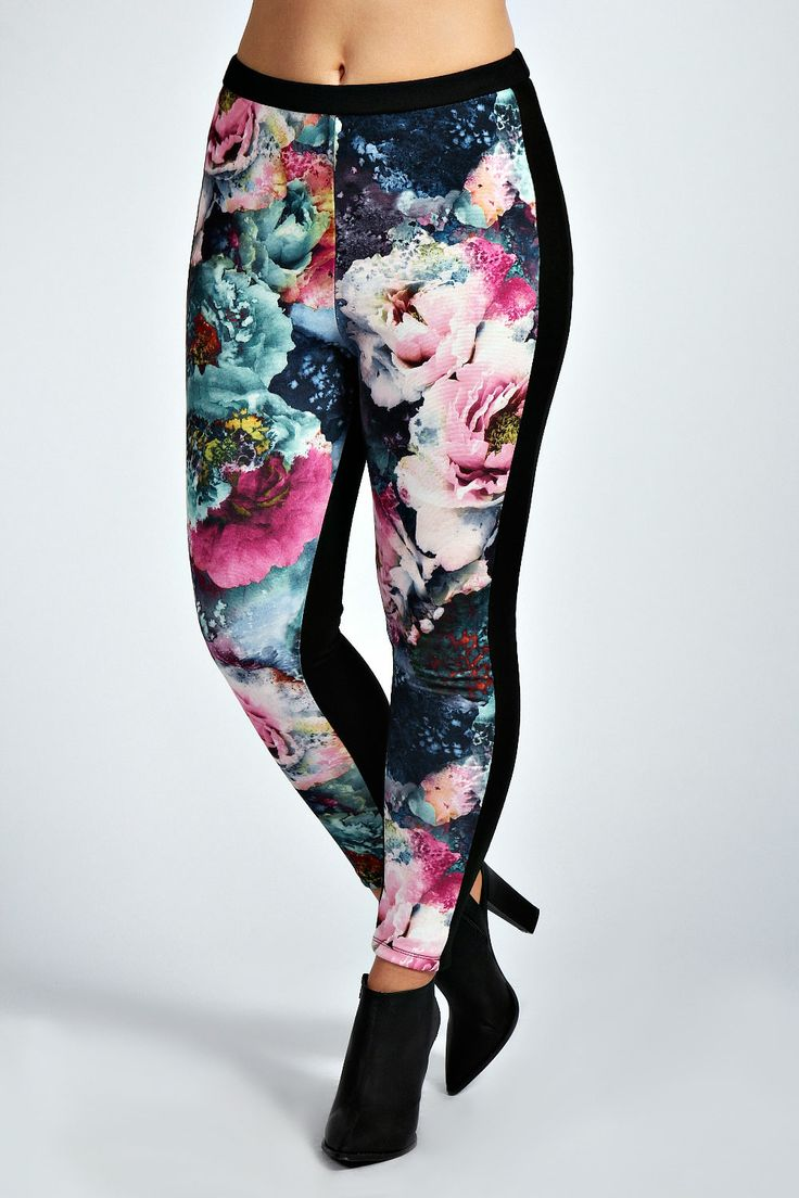 Kara Floral Jeggings at boohoo.com