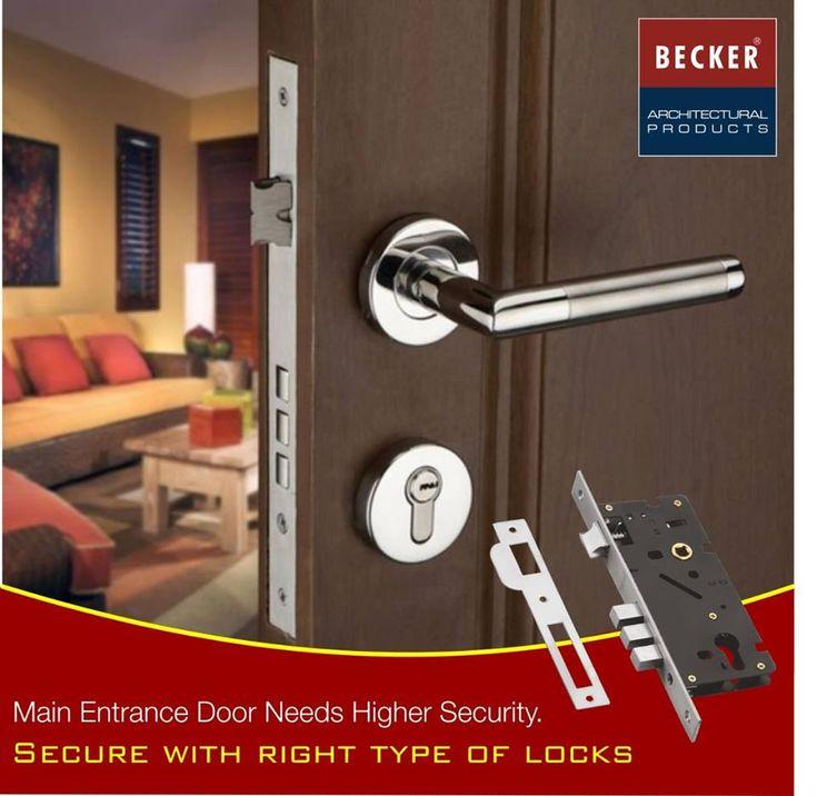 Main Entrance door needs higher security Secure with right type of the door!!!! #tower #bolt #pans #becker #architect #hardware #handle #door #retailer MPG Hardware Call Us @9871220066