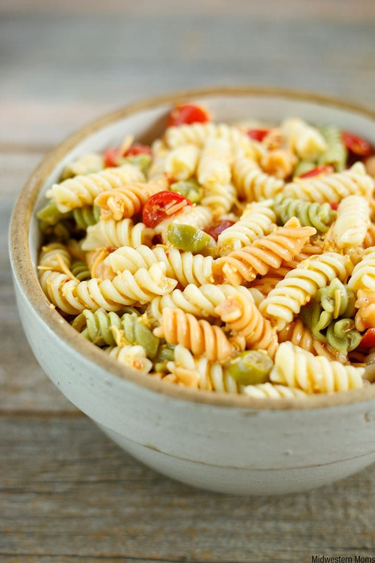 Zesty Italian Pasta Salad Recipe Great Blogger Recipes Pinterest And