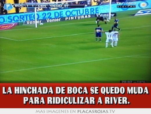 La hinchada de Boca se quedó muda  para ridiculizar a River.
